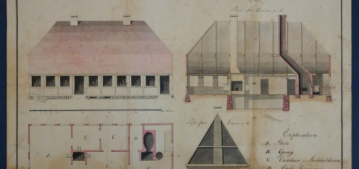 1820Tegning af ny skole Østerlars