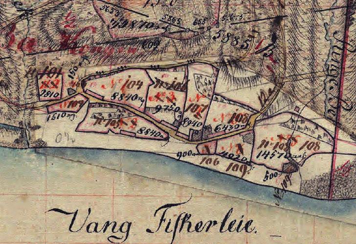 Matrikelkort over Vang 1824-1854