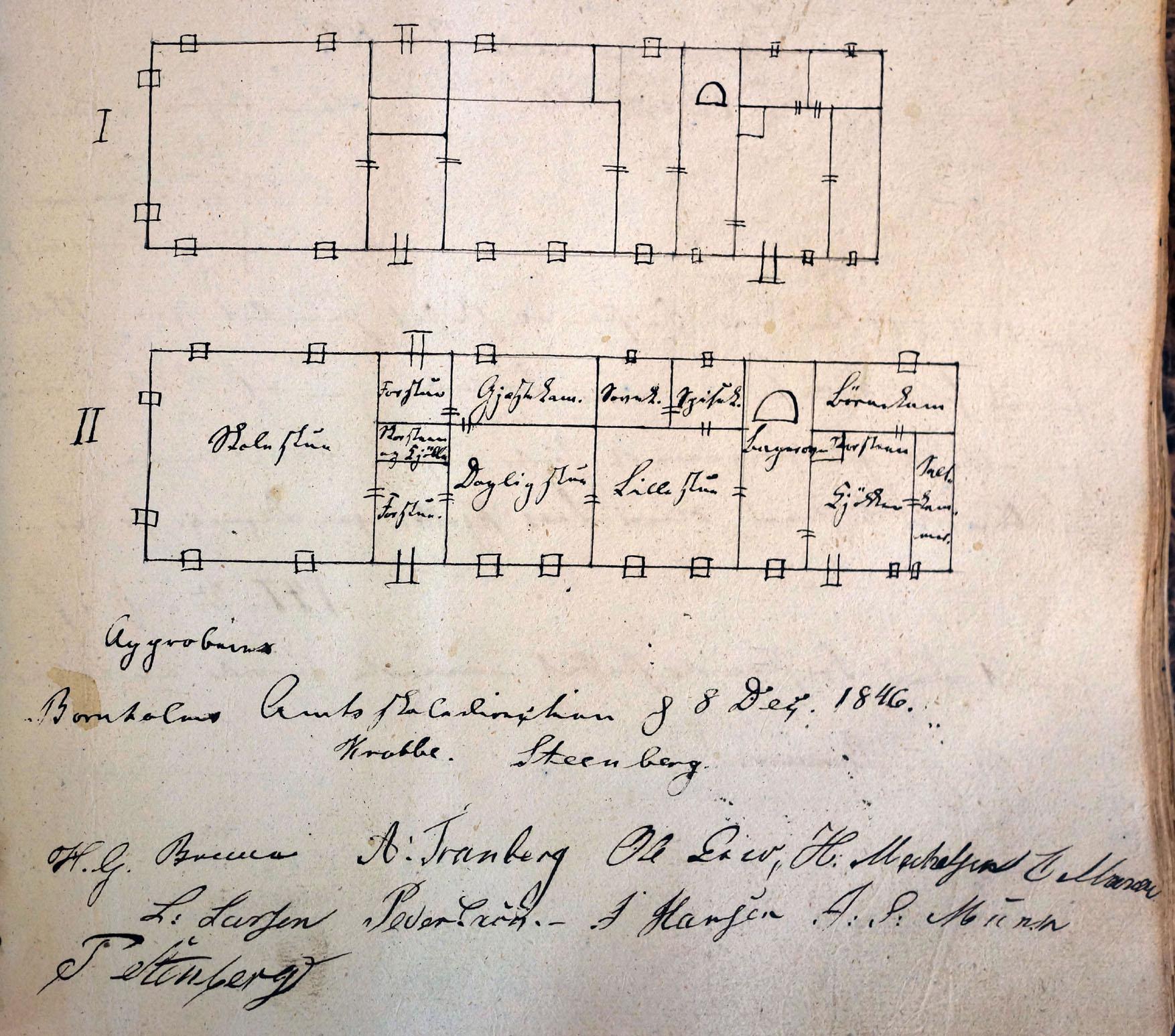 1846ombygningsplan for Østerlars skole