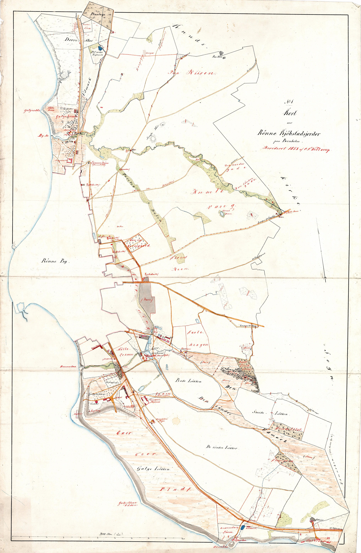 C.F.Willerups opmåling af Rønne købstadsjorder 1858