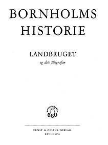 Bornholms Historie - Landbruget og dets Biografier 1