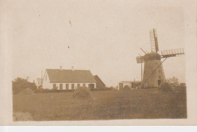 Skrehalle Mølle, Østermarie ca. 1920. Bent Thygesens foto
