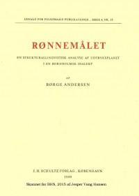 Rønnemålet af Børge Andersen 1959 1