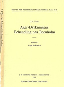 1757 Urnes Agerdyrkningens Behandling paa Bornholm forside
