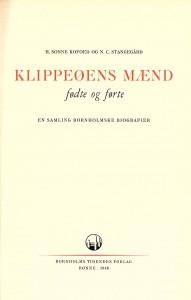 Klippeøens mænd fødte og førte - Sonne Kofoed og Stangegård 1