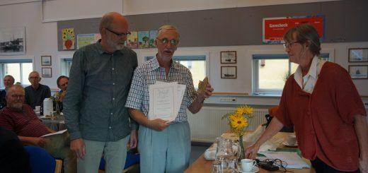 Jesper Vang Hansen, Prismodtager Erik Grønvang Nielsen og Ann Vibeke Knudsen